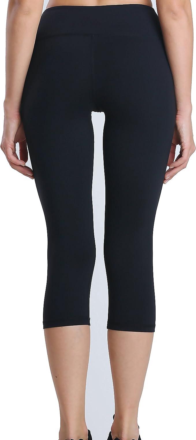 Lulugym Yoga Pant Tummy Control Running Capris Stretch Workout Leggings