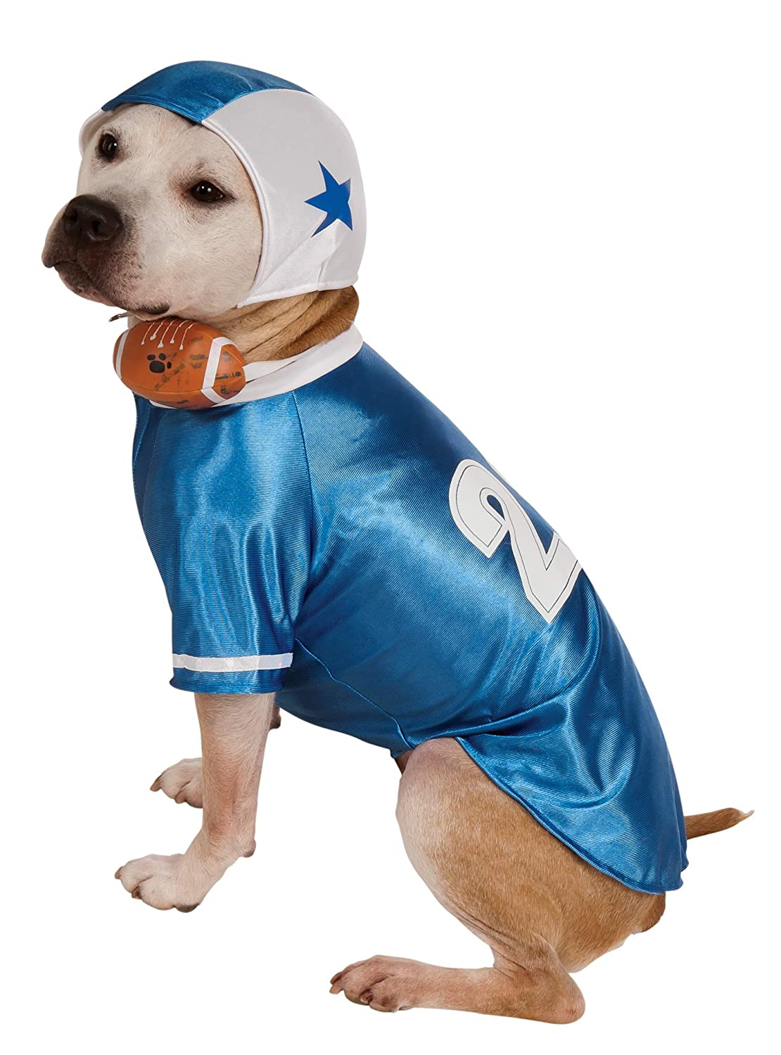 Rubies Costume Co Halloween Classics Collection Pet Costume Large Blue Football Player