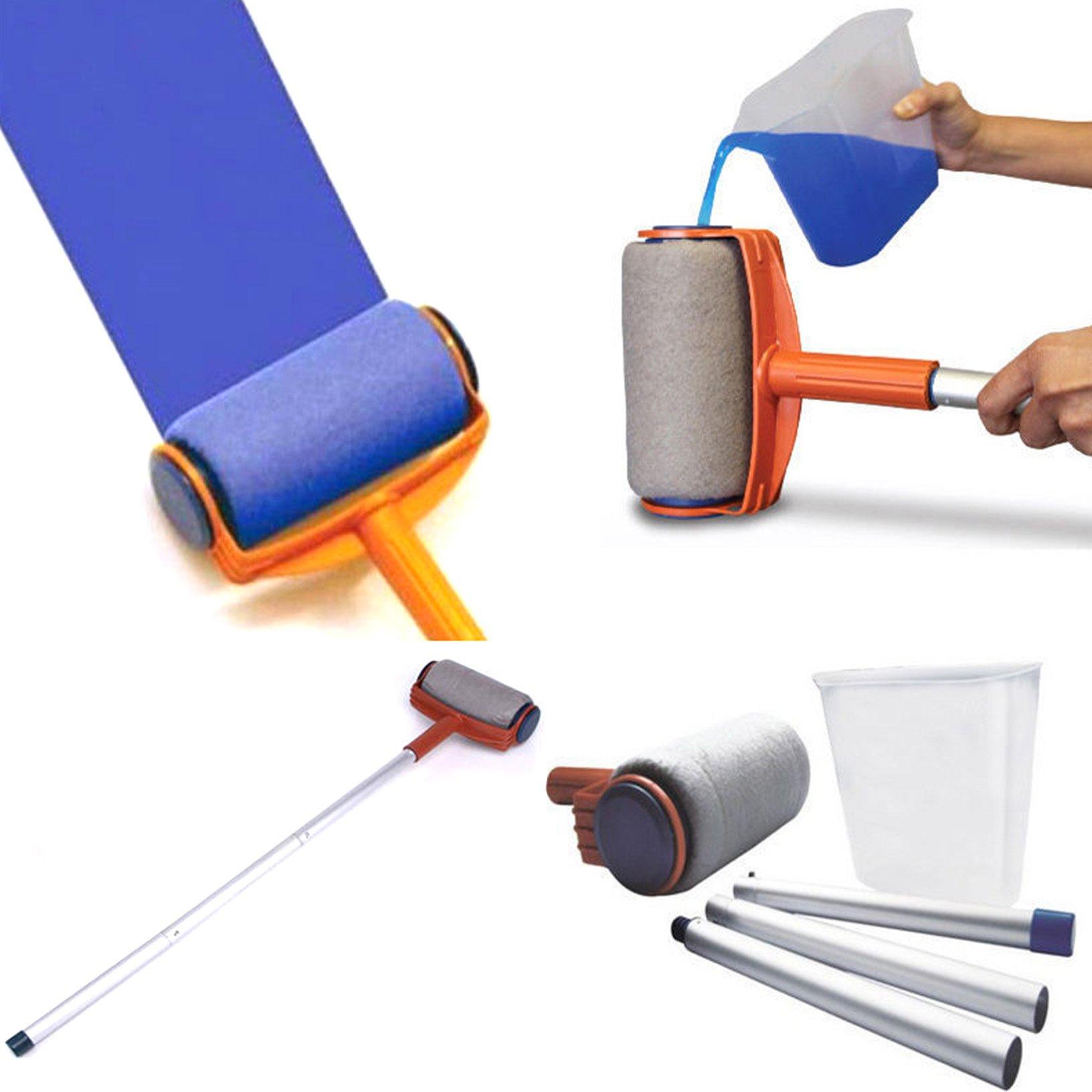 Toyofmine Paint Handle Flocked Roller Brush Runner Wall Painting Edger Room 5Pcs/set