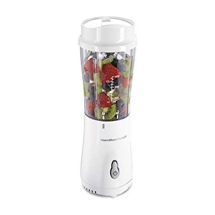 Hamilton Beach 51101V Personal Creations Single Serve Blender with Travel Lid White (Renewed)