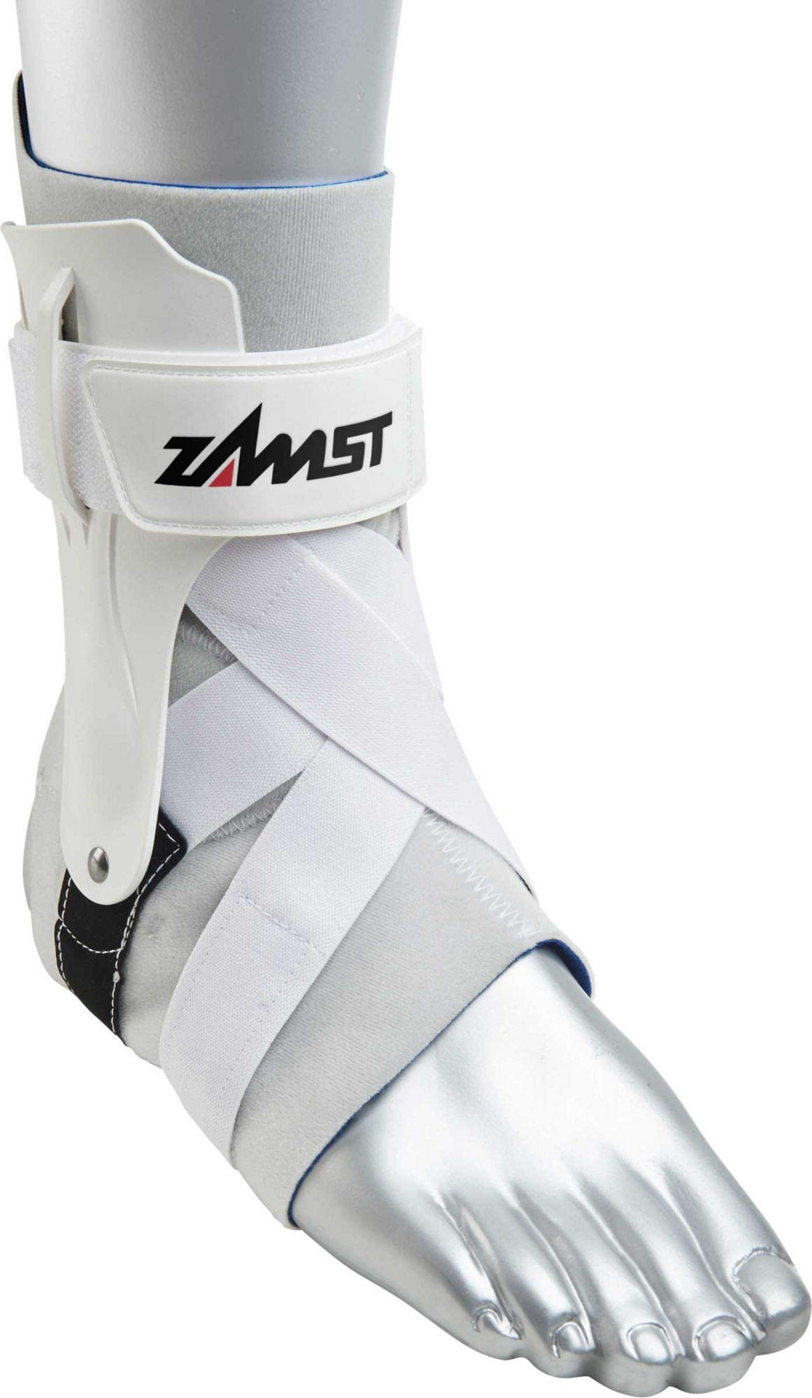 Zamst A2-DX Strong Support Ankle Brace, White, Medium - Left