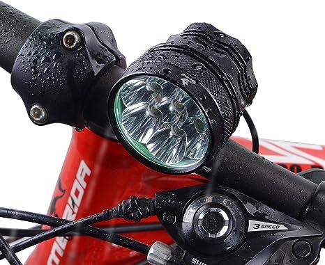 Nestling® XM 7 x CREE XML T6 LED Faro Linterna Frontal Luz USB ...