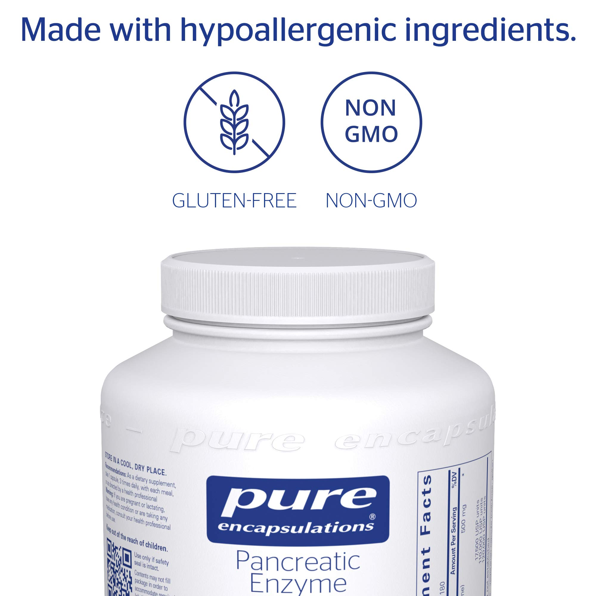 Pure Encapsulations - Pancreatic Enzyme Formula - Hypoallergenic Supplement to Support Proper Digestive Function* - 180 Capsules by Pure Encapsulations (Image #4)