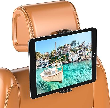 Bovon Soporte Tablet para Coche, Soporte de Tablet para Reposacabezas de Coche, Giratorio 360° para Asiento Trasero Soporte, Compatible con iPad Air/Pro, iPhone 11 Pro Max/XS MAX/X, Nintendo(5.5