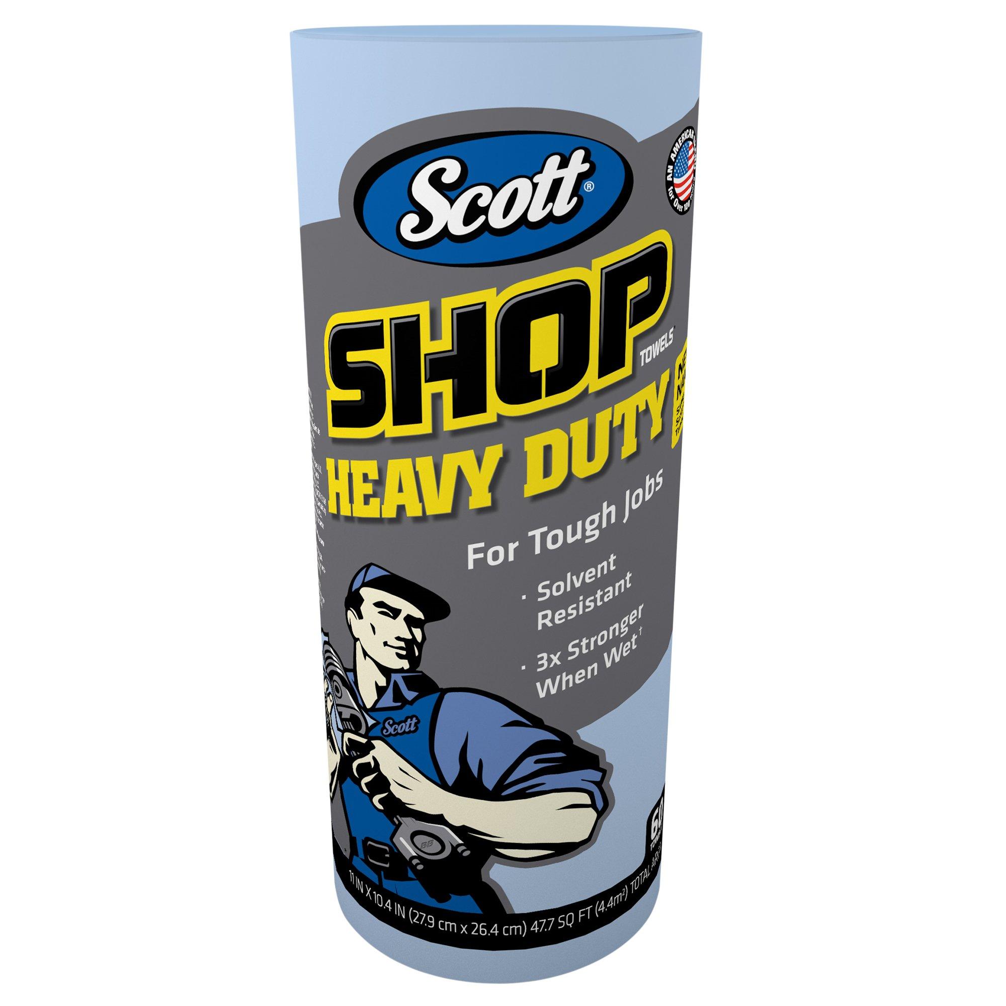 Scott 32992 Pro Shop Towels, Heavy Duty, 1-Ply, Blue, 10 2/5'' x 11'' (Case of 12 Rolls) by Kimberly-Clark Professional