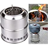 Lightweight Camping Wood Stoves Compact Kit for Backpacking Camping Survival Stainless Steel Outdoor Burning Firewood Stove