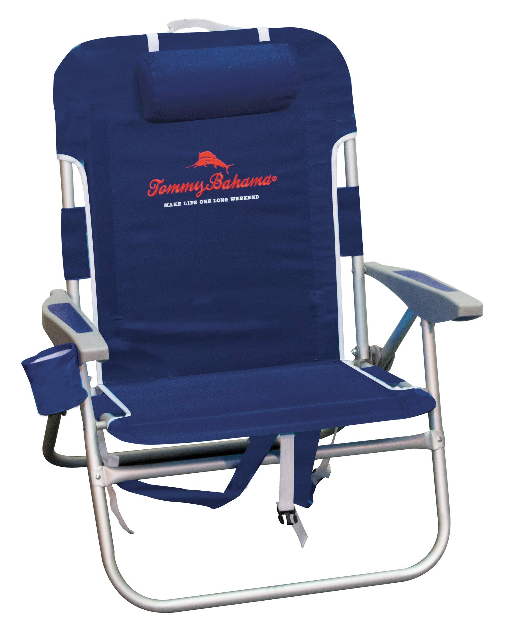 Tommy Bahama 4-Position Big Boy Backpack Beach Chair - Navy by Tommy Bahama