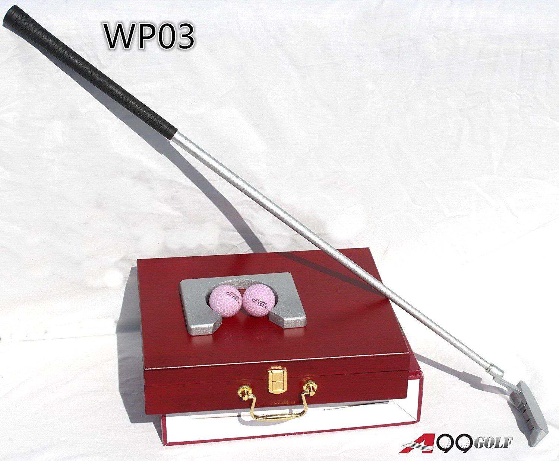 a99 Golf wp02インドアExecutive Officeゴルフゲームセットギフトin木製ケース2ボールカラーボックス B078PGY1XM