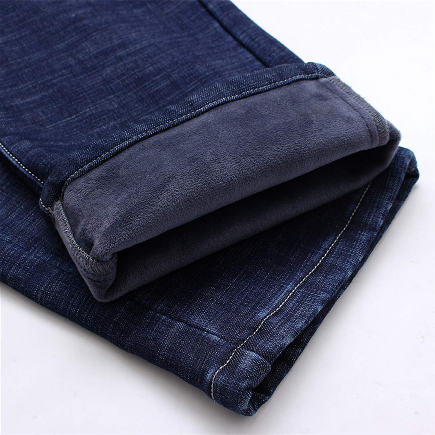 Mistoms Thick Stretch Denim Jeans Straight Fit Trousers Male Cotton Pants Men Large