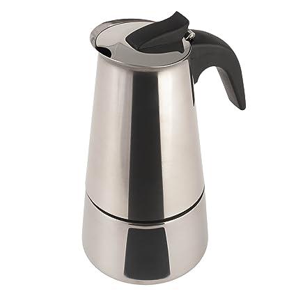 Cafetera Acero INOX. inducción 6 Tazas Acero