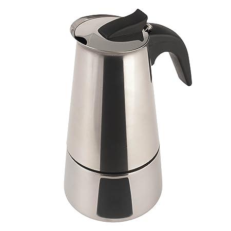 Cafetera Acero INOX. inducción 6 Tazas Acero: Amazon.es: Hogar