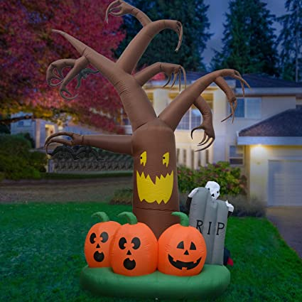 Amazon.com: Phoenixreal Halloween - Árbol hinchable con ...