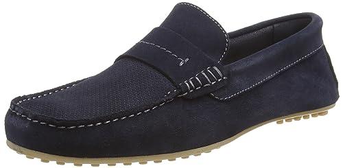 Shipton, Mocasines para Hombre, Azul (Navy 100), 42 EU Burton Menswear London