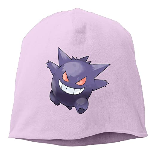 Amazon.com  LETgogo Poke Go Gengar Adjustable Winter Knit Cap Beanie ... 4ad3faab9bb7