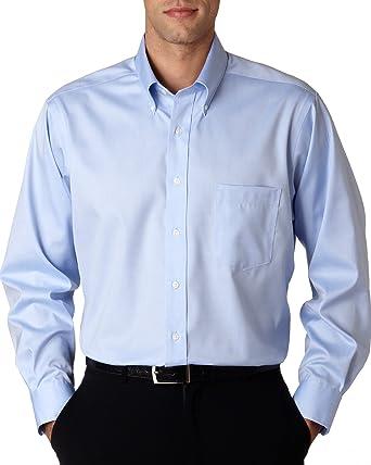 b0ab615c Van Heusen Men's 100% Cotton Non Iron Button Down Dress Shirt - Colors