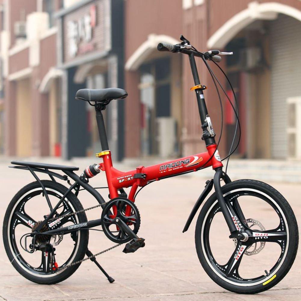 学生折りたたみ自転車, 子供用折りたたみ自転車 変数 6 速 シマノ 男性と女性 山 ギフト 大人 折りたたみ自転車 折り畳み自転車 B07DGBRB5V 20inch レッドA レッドA 20inch