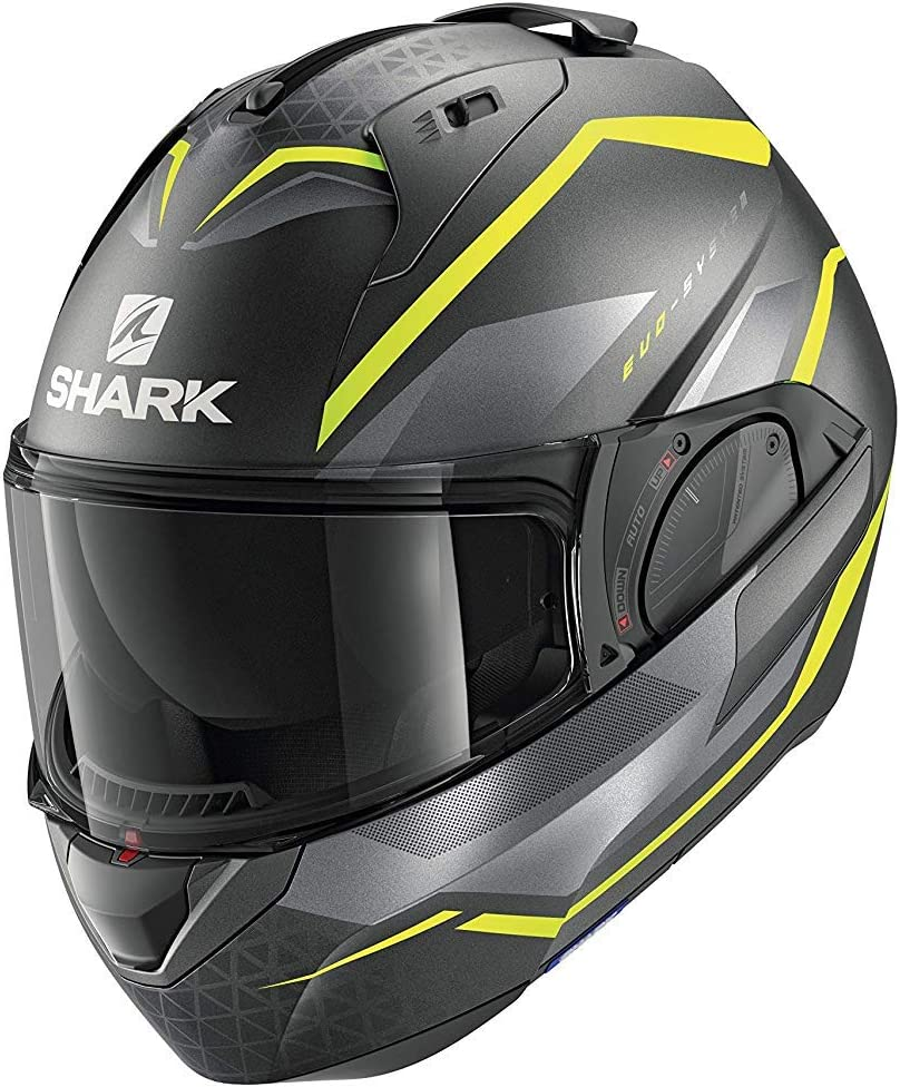 Grigio//Giallo XL Shark Casco moto EVO ES YARI Mat AYS