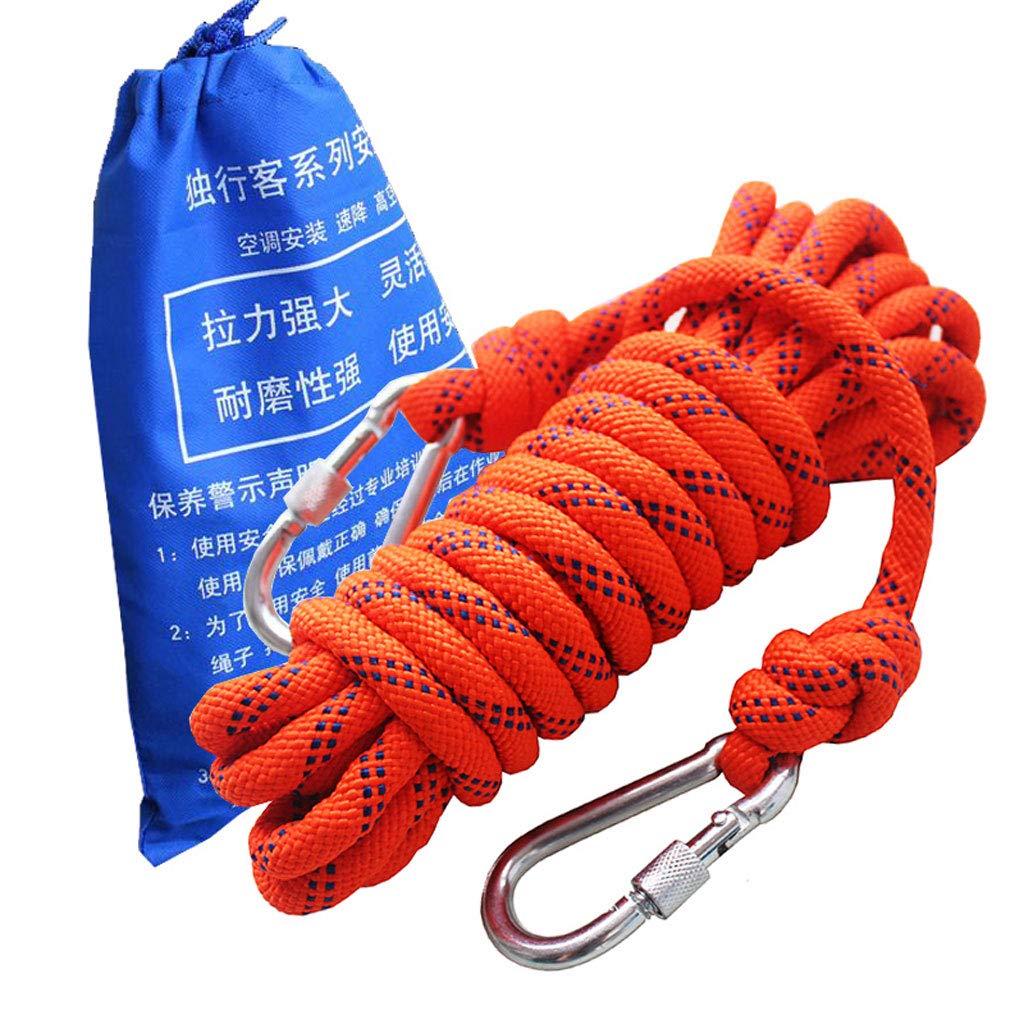 8mm XuQinQin Corde de sauvetage de corde d'escalade rappelant l'escalade corde de sécurité d'escalade extérieure résistante à l'usure fournie corde 8mm   10mm Corde de chanvre multifonctionnelle 25m