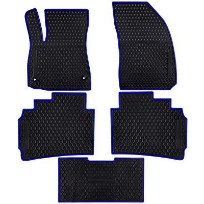 Ucaskin Car Floor Mats Custom Fit for Chevrolet Chevy Malibu 2020 2020 2020 2020 Odorless Washable Rubber Foot Carpet Heavy Duty Anti-Slip All Weather Protection Car Floor Liner-Blue: Automotive