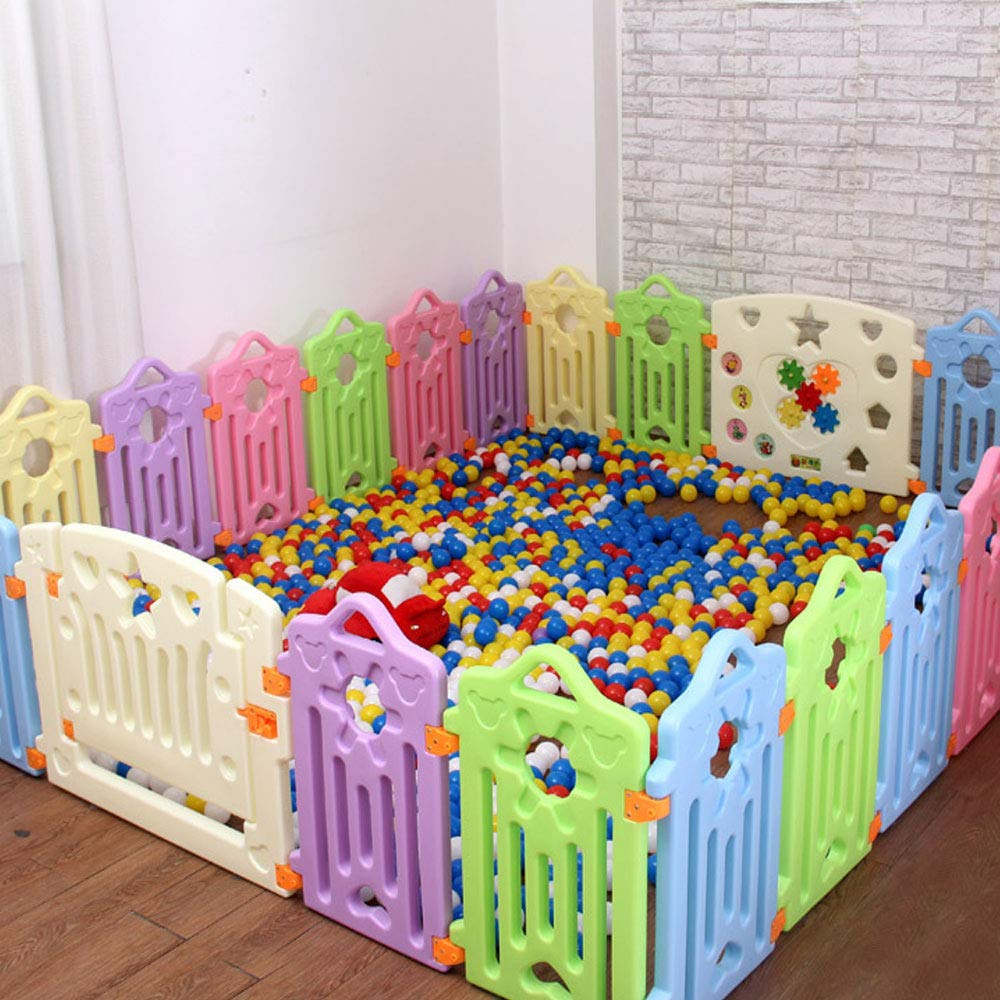 Nwn Fence Baby Crawling Baby Toddler Safety Fence Indoor Toy Door Bar (UnitCount : 18 pieces) njsdih