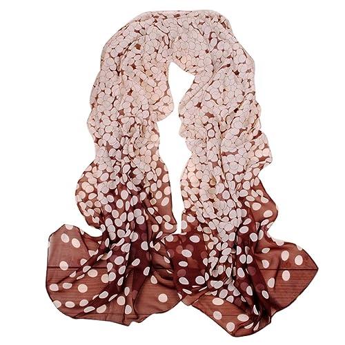 Feoya – Mantón Largo Bufanda de Gasa Suave de Impresión para Mujer 7 Colores a Elegir