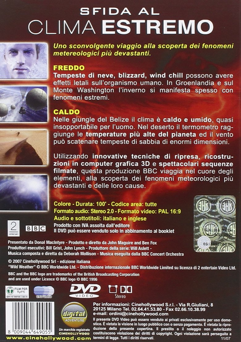 Amazon.com: sfida al clima estremo - freddo e caldo (dvd+libro) () dvd Italian Import: documentario: Movies & TV
