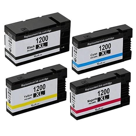 Amazon.com: am-ink PGI-1200 XL cartucho de tinta compatible ...