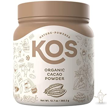KOS Raw Unsweetened Organic Cacao Powder