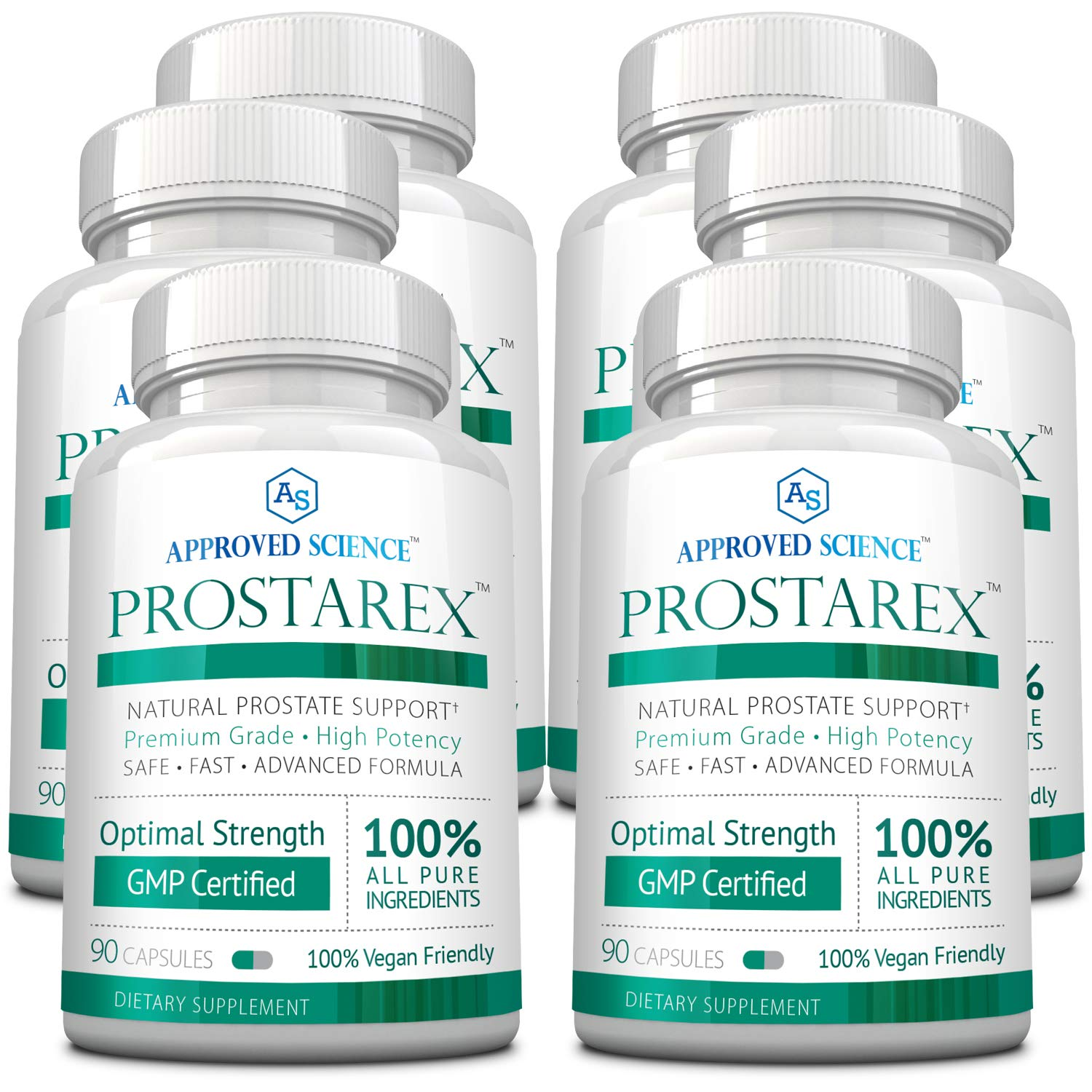 Prostarex - Extra Strength Vegan Saw Palmetto Supplement for Prostate Support - All Natural, Promotes Healthy Urination Frequency & Flow - 6 Bottles