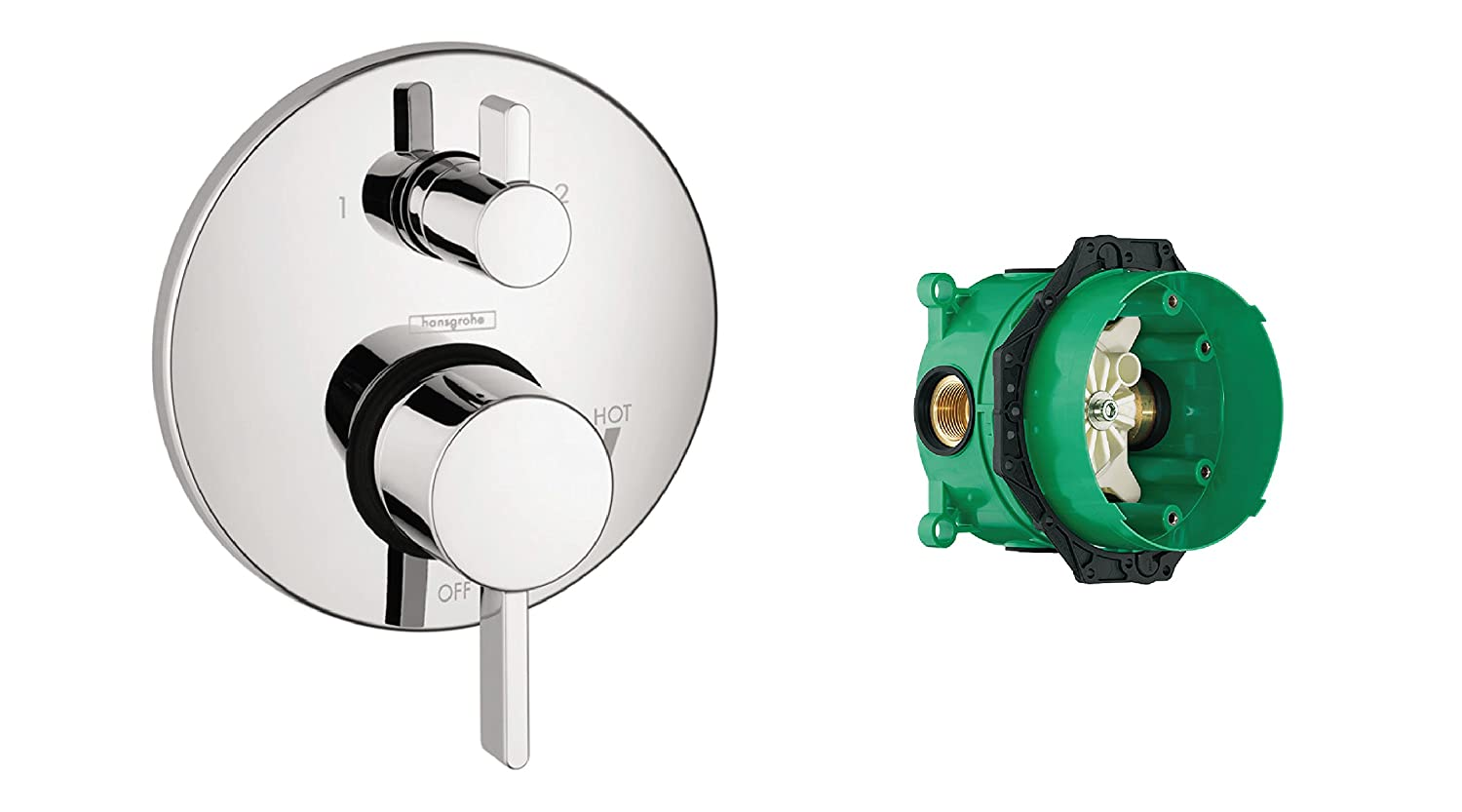 Hansgrohe 04447000 Pressure Balance Trim With Diverter And