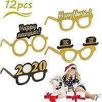 Gafas de Feliz Año Nuevo,SEELOK 12pcs Anteojos