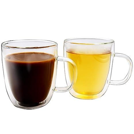 Amazoncom Double Wall Glass Coffee Mugs 12 Oz Set Of 2