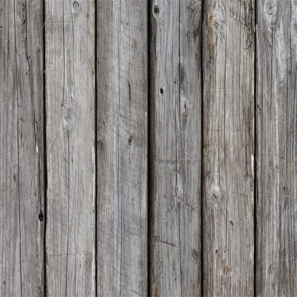 Crackled Old Barn Backdrops 8x8ft Polyester Countryside Wood Plank Photography Backdrop Grunge Rustic Vertical Striped Wooden Board Background Children Adults Pets Product Photo Shoot Prop