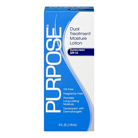 PURPOSE Dual Treatment Moisture Lotion, SPF 10 4 oz Pack of 5