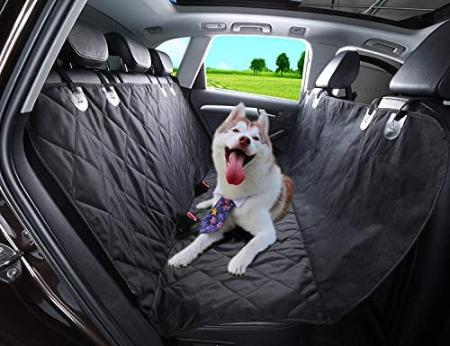 Alfheim Dog Back Seat Cover – Nonslip Rubber Backing – with Anchors Universal Dog Car Seat Cover Protector, Washable, Scratch Resistant,for All Cars, Trucks SUVs