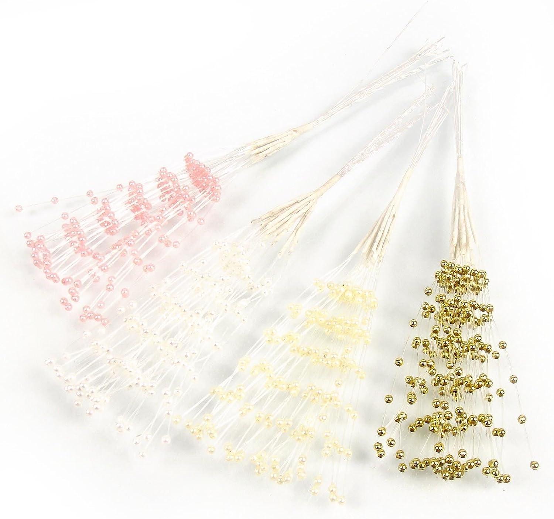 Silver,271519735063-5 Bridal Pearl Bead Spray for Wedding Craft Decoration Bouquet Embellish