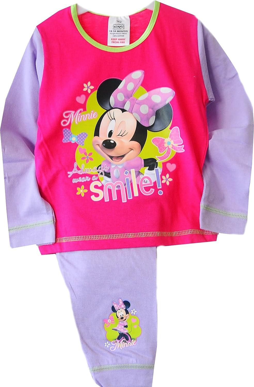 Minnie Mouse Baby Pyjama Schlafanzug Set Shirt Hose Lila Pink