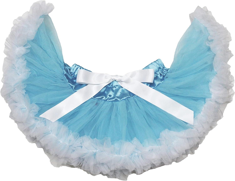 Petitebella Light Blue White Baby Skirt 3-12m