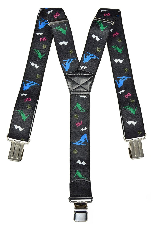 Hosenträger extra starken für Skihose / Salopette mit Ski Design, für alle Altersgruppen für alle Altersgruppen