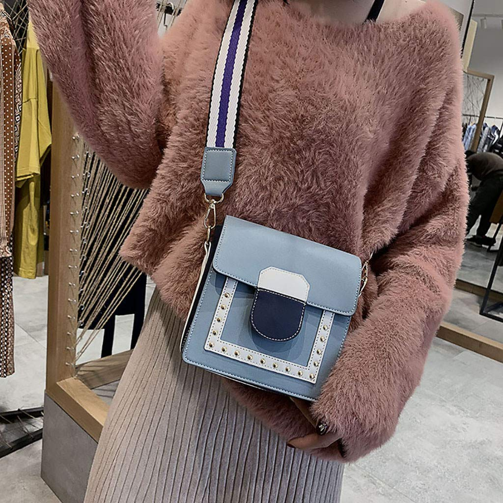 Midress Fashion Flap Bags Women Joker Messenger Bag Shoulder Bag Fashion Small Square Bag Single Messenger Bags White