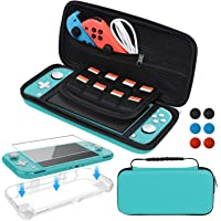 Accessories Kit for Nintendo Switch Lite, Carrying Case with Screen Protector and TPU Protective Cover Case for Nintendo…
