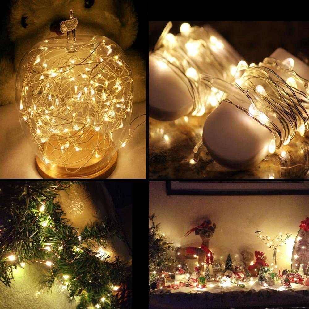 Amazon.com: LRCXL Moon Lights Outside, 20 Micro LEDs 6.5 Ft (2m ...