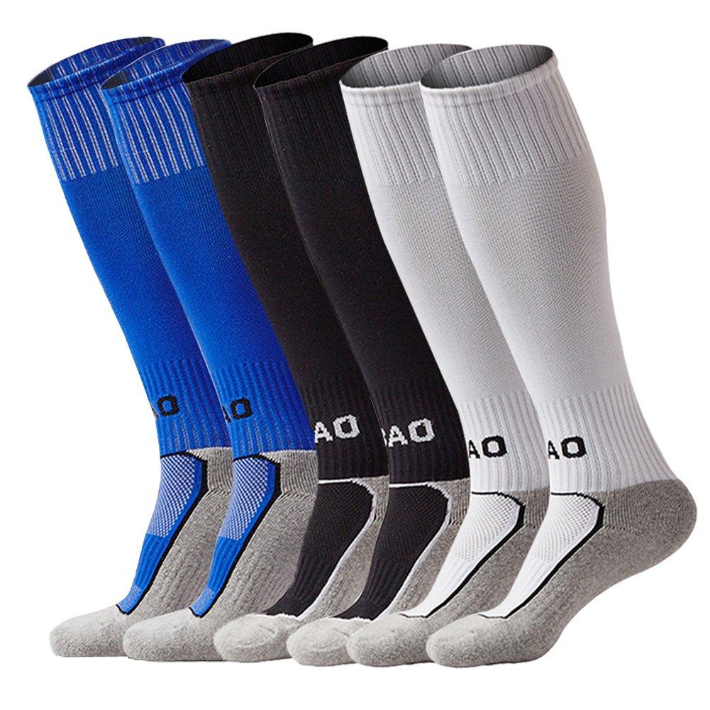 LITAO SOCKSHOSIERY ユニセックスキッズ B071986N1N Black&white&blue Black&white&blue