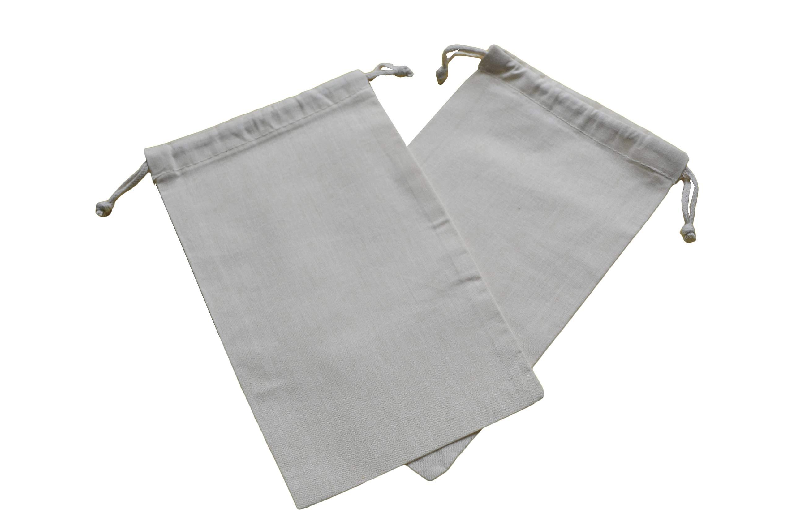Loosewarp 50pcs 8'' x 12'' Natural Muslin Double Drawstring Bag - Wedding Favor - Party Favor - Reuseable Bags