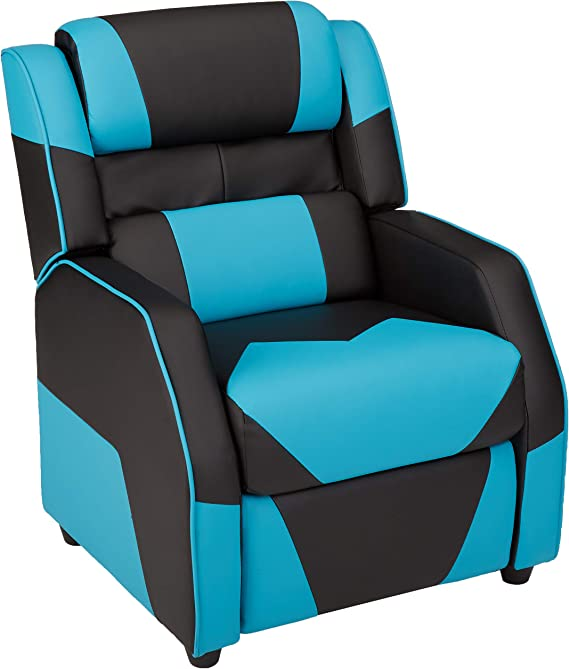 AmazonBasics Kids/Youth Gaming Recliner with Headrest and Back Pillow