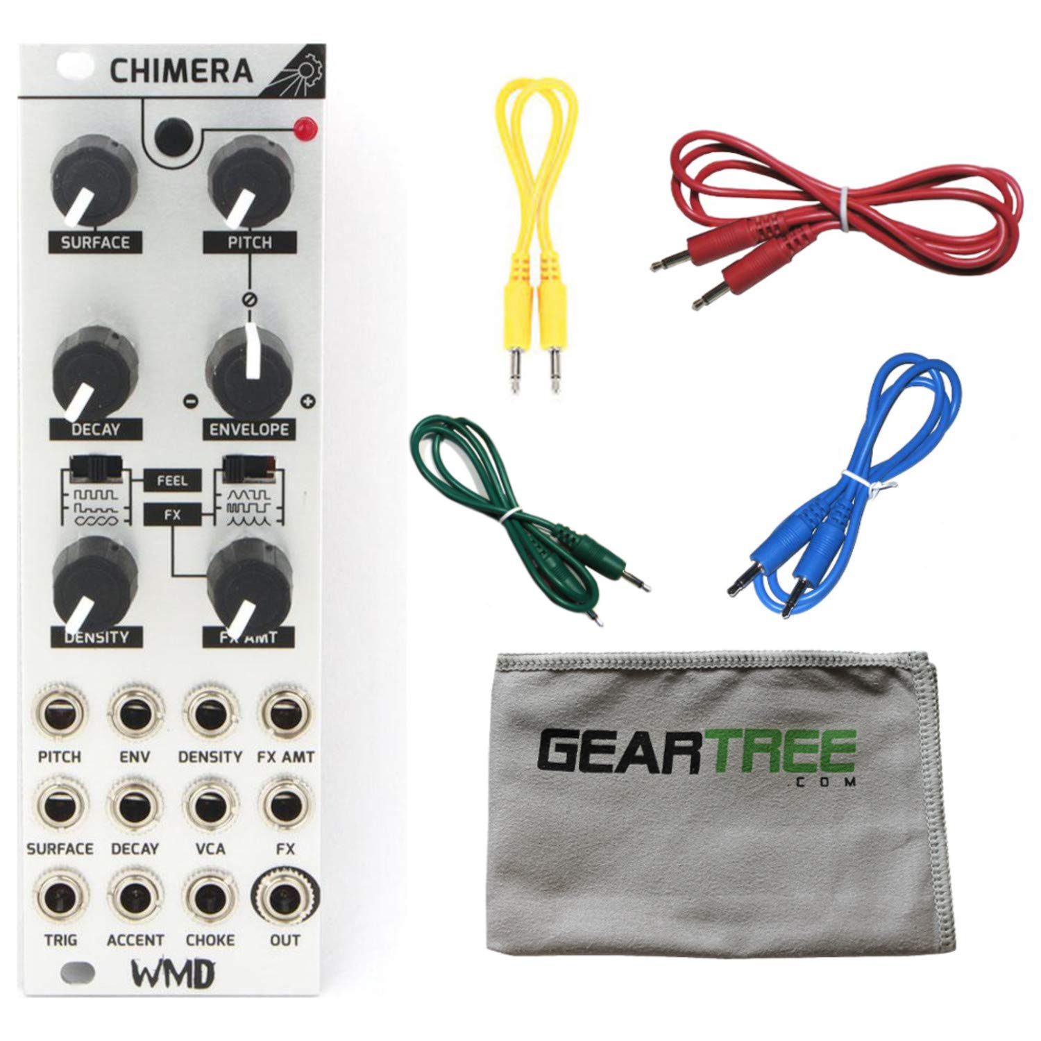 WMD Chimera Percussion Synthesizer Eurorack Module w/ 4 Cables and Polish Cloth