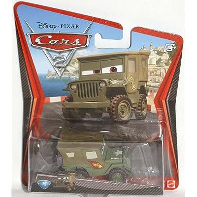 Disney / Pixar CARS 2 Movie 155 Die Cast Car #15 Race Team Sarge: Toys & Games