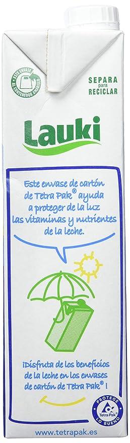 Lauki Leche Semidesnatada - Pack de 6 x 1 l - Total: 6 l: Amazon.es: Amazon Pantry