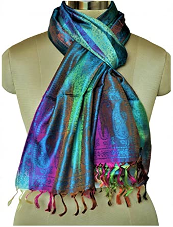 Indian Silk Scarf traditional ethnic wear for women stoles and shawls   Amazon.in  Clothing   Accessories c3618abcc6334