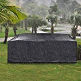 king do way Outdoor Patio Furniture Covers, Extra Large Outdoor Furniture Set Covers Waterproof, Windproof, Tear-Resistant, U